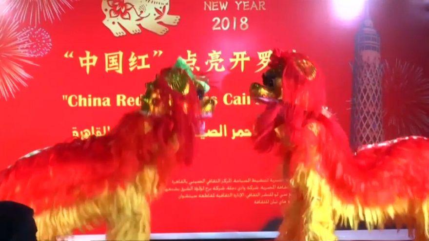 Chineses dão as boas-vindas ao Ano Novo