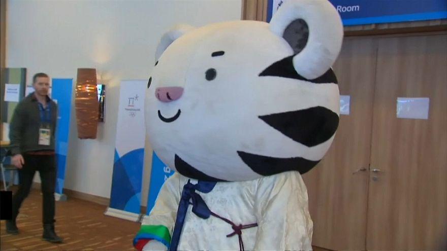 """La mascota de los juegos de Pyeongchang """"sufre"""" el acoso de los fans"""
