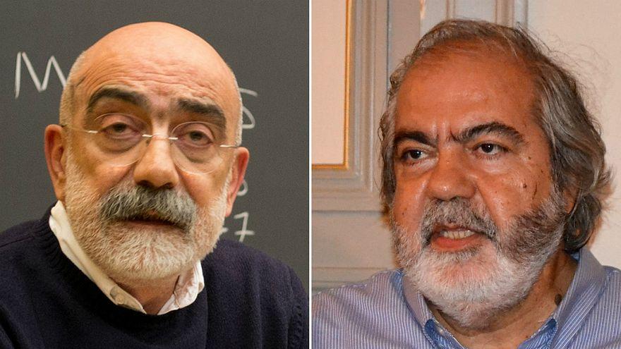الصحفيان أحمد ألتان (يسار الصورة) وشقيقه محمد ألتان (يمين الصورة)