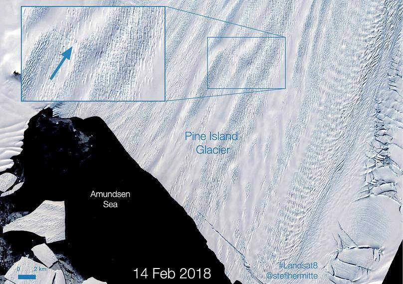 Landsat/ NASA vía Stef Lhermitte