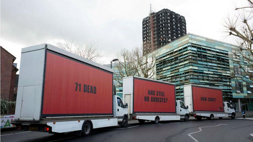 Grenfell Tower activists organise 'Three Billboards' stunt in London