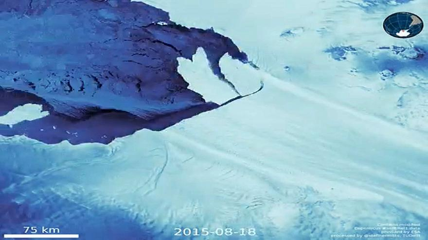 Watch: Pine Island glacier readies for another crack