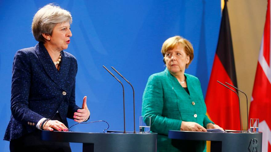 Merkel and May address media after Brexit talks