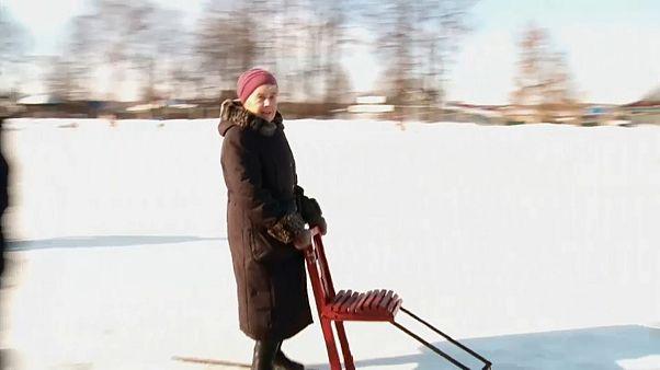 Um meio de locomoção original na Finlândia