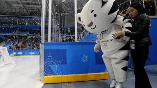 """Mascote de PyeongChang sofre """"acidente"""""""