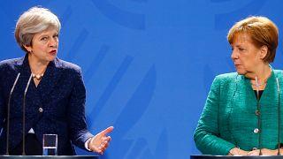 Brexit : Theresa May à Berlin