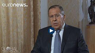Exkluzív interjú az orosz külügyminiszterrel az Euronewson