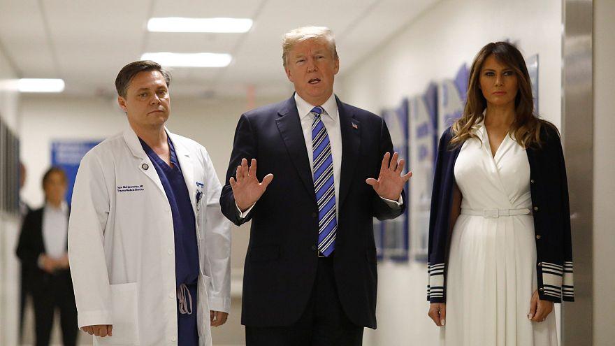 Parkland: Trump besucht Amoklauf-Opfer im Krankenhaus