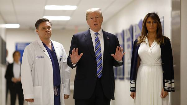 Trump e la first Lady in visita ai feriti al Broward Hospital