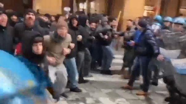 Полиция разогнала антифашистов