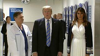 Visita sorpresa de Trump a los heridos en el tiroteo de Parkland