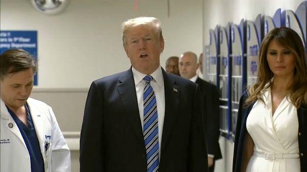 President Trump hailed emergency response teams during Florida visit