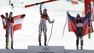 Ledecká, a heroína do Super-Gigante de esqui alpino