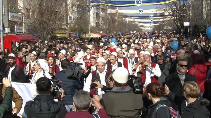Kosovo festeja el décimo aniversario de su independencia