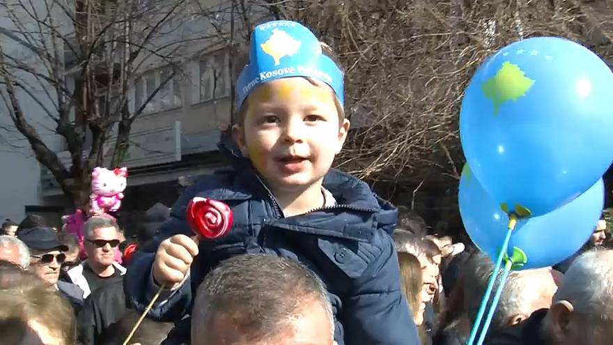 Kosovo takes to the streets to celebrate a decade of independence