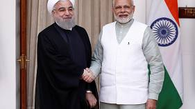 Hassan Rohani en visite en Inde