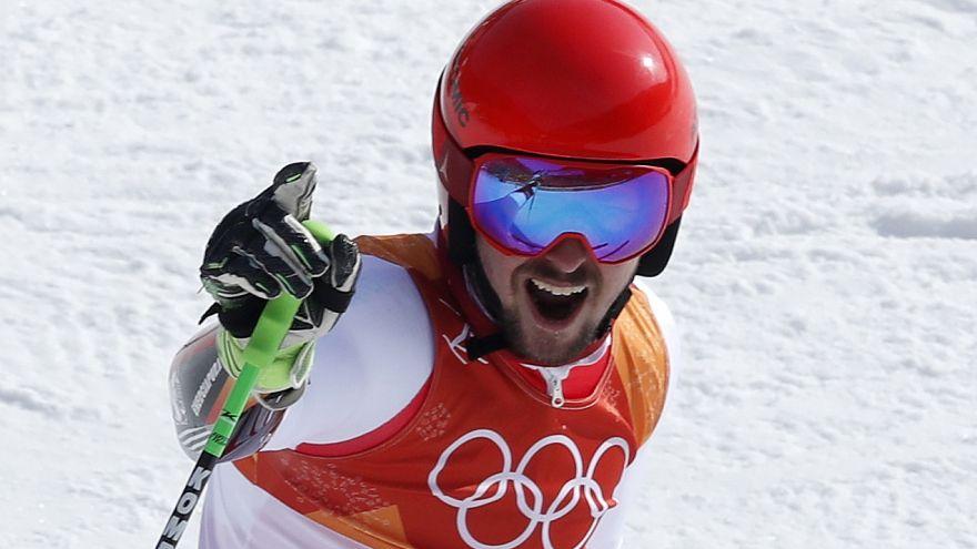 Pyeongchang 2018: Austria's Marcel Hirscher wins second gold with giant slalom triumph