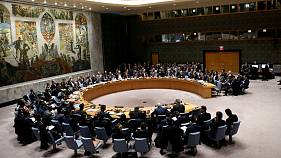 Members of the Security Council gather for a meeting