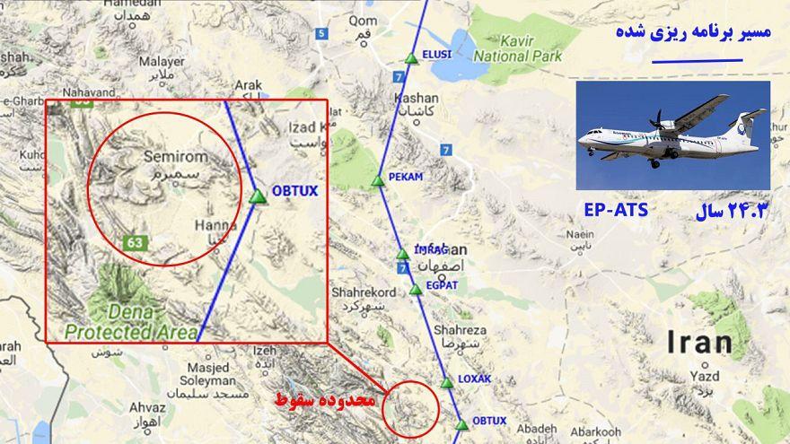 Iran: aereo si schianta con oltre 60 persone a bordo