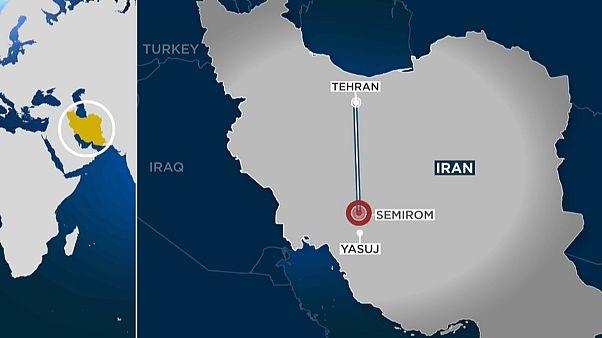 A map indicating crash site of the Iranian passenger plane