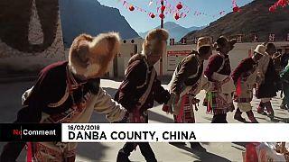 قرية دانبا الصينية تحتفل بالسنة القمرية على طريقتها الخاصة