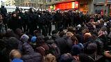 Manifestantes envolvem-se em confrontos com polícia alemã