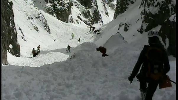 Italian first responders search for survivors after avalanche