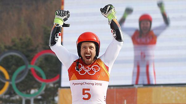 Marcel Hirscher conquista ouro olímpico no Slalom Gigante