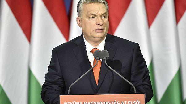 Orbán Viktor évértékelő beszédet mond a Várkert Bazárban
