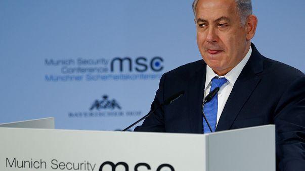 رئيس الوزراء الإسرائيلي بنيامين نتانياهو في مؤتمر ميونيخ