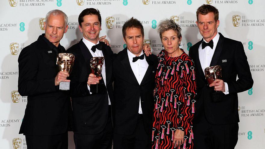 Dark comedy Three Billboards scoops most prizes at BAFTAs