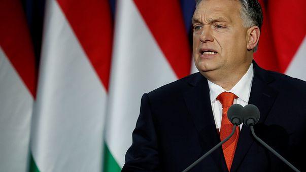 رئيس الوزراء المجري فيكتور أوربان يلقي خطابه السنوي في بودابست