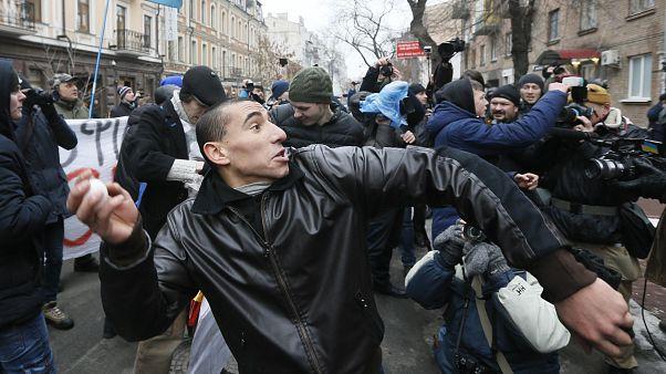 Orosz tulajdonú épületeket rongáltak meg Kijevben