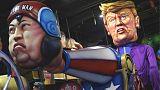 Trump dispara a Kim Jong-un en un cañón y otros momentos destacados del Carnaval 2018