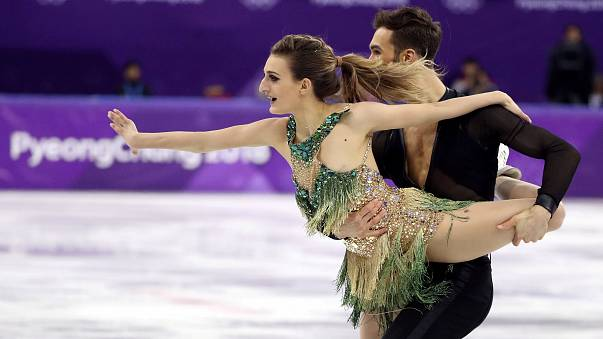 Guillaume Cizeron and Gabriella Papadakis of France perform