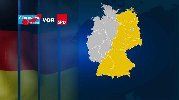 La AfD, segunda fuerza política de Alemania por delante del SPD