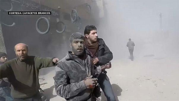 Ataques aéreos em Ghouta fazem quase 100 mortos