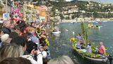 Villefranche-sur-Mer recebe mais uma 'Batalha Naval das Flores'