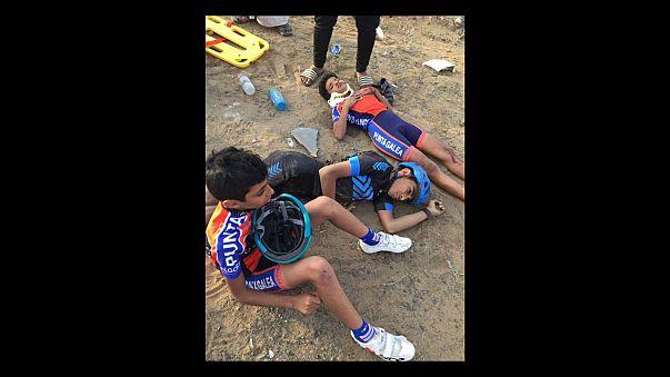 بالصور: مقتل 4 دراجين من نادي اليرموك أثناء حصة تدريبية