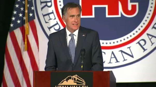 Donald Trump'tan kendisini eleştiren Mitt Romney'e siyasi destek
