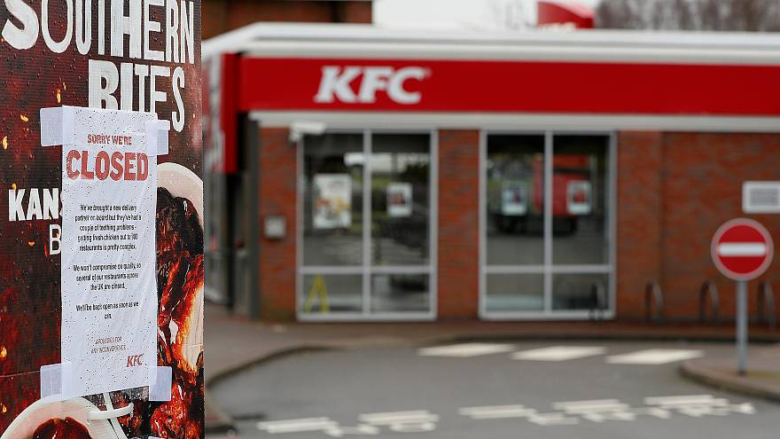 A KFC restaurant in Coalville, Britain, is closed on February 19, 2016.