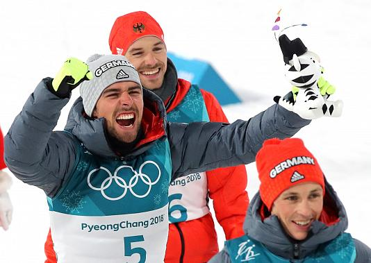 Olympics: German sweep in Nordic Combined