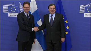 Jose Manuel Barroso, con el actual vicepresidente de la CE, Jyrki Katainen