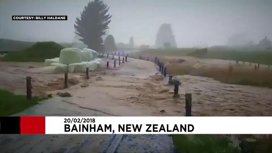 Former Cyclone Gita brings flooding to New Zealand
