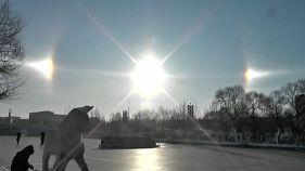 Seltenes Phänomen: 3 Sonnen über Harbin