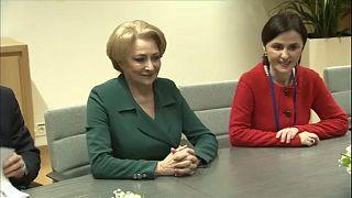 Romania's prime minister meets EU Council President Donald Tusk