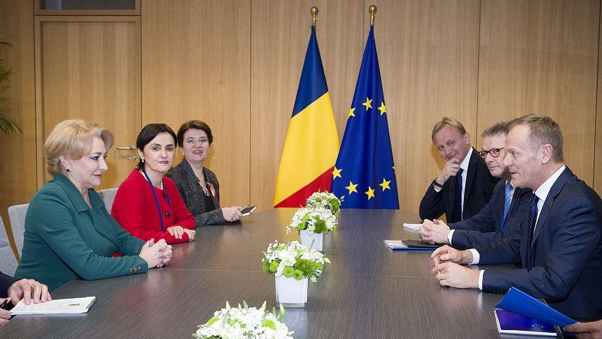 La Première ministre roumaine et le président du Conseil européen