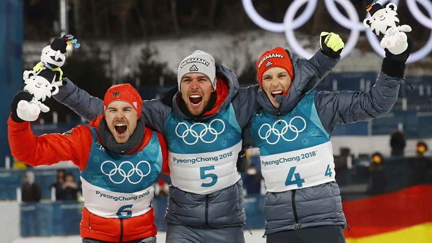 Olympische Winterspiele 2018: Historischer Dreifach-Triumph für deutsche Kombinierer