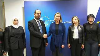 Nasr al-Hariri e Federica Mogherini