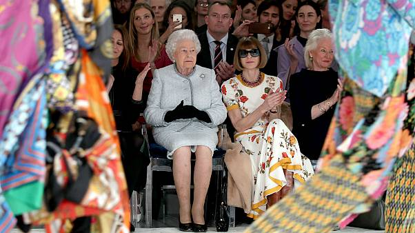 Queen Elizabeth makes surprise London Fashion Week appearance